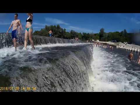 Красивый водопад в Саратовской области. Дамба на реке Большой Иргиз