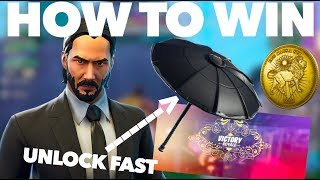 How to WIN in the Wick's Bounty LTM in Fortnite Season 9 | How to Unlock the One Shot Umbrella FAST