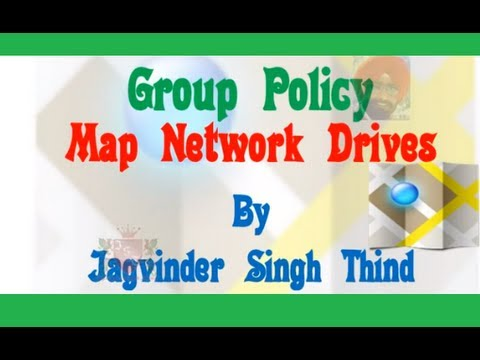 Map Network Drive Group Policy Server 2008 Video 27
