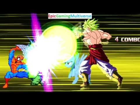 Rainbow Dash And Broly VS Ed And Spider-Man In A MUGEN Match / Battle / Fight