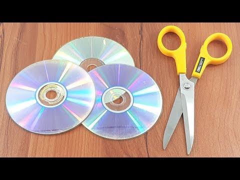 Recycling cd disc craft   Waste cd disc reuse idea   Best out of waste