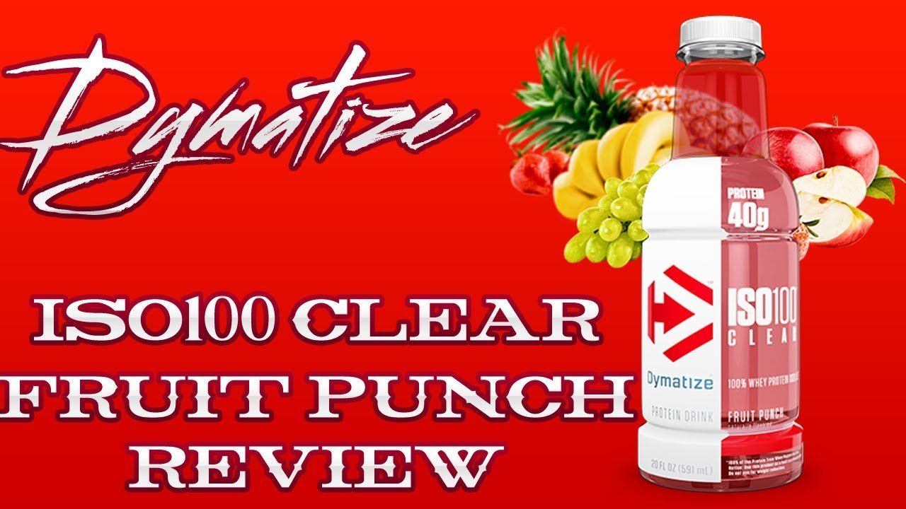 dymatize iso 100 clear drink