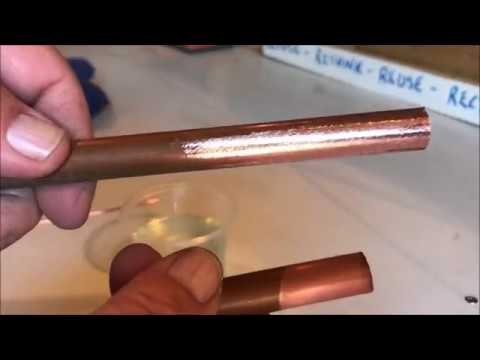 Cleaning copper pipe and wire with salt and vinegar....good or bad idea?