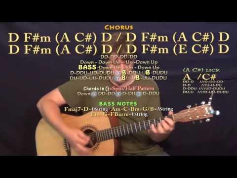 No Money (GALANTIS) Guitar Lesson Chord Chart in D