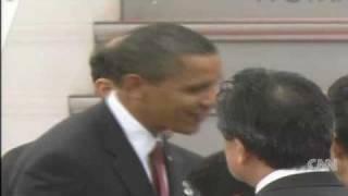 Obama arrives in Japan