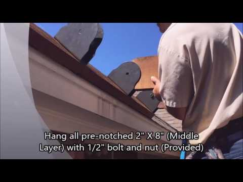 12 X 16 Southern Comfort Pergola Attached On Shingles - 12 X 16 Southern Comfort Pergola Attached On Shingles - YouTube