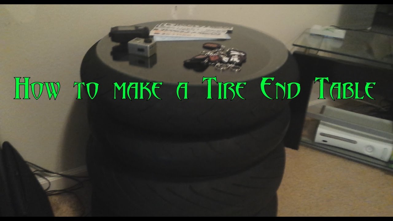How to make a tire end table YouTube