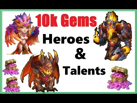 10k Gems And 10 Talent Refresh Cards For New Heroes Castle Clash