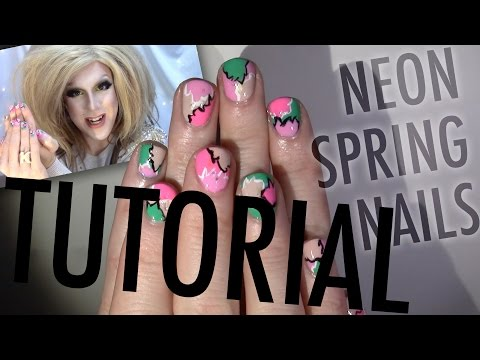 NEON SPRING NAILS — Nail Tutorial, Rules of Abstraction..
