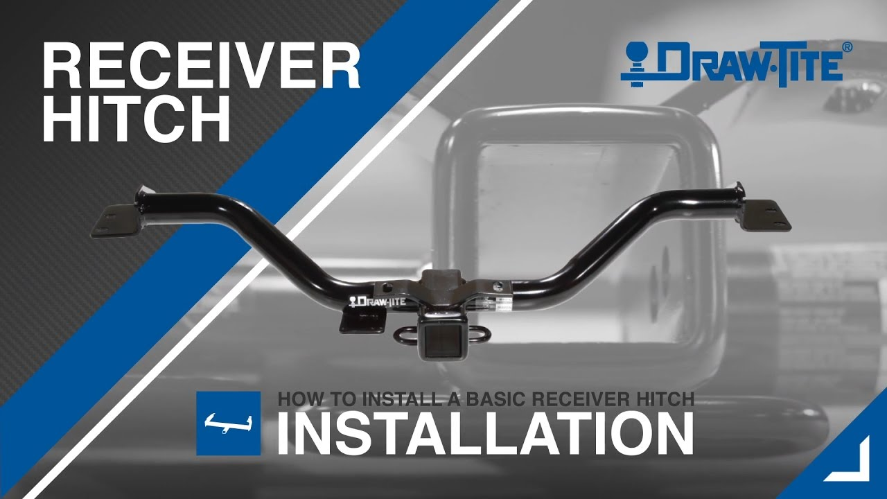 How to Install a Receiver Trailer Hitch DrawTite YouTube