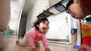 ●普段遊び●【音量注意】こわいよ・・・パパが番犬!ガオガオ~まーちゃん【4歳】おーちゃん【2歳】 thumbnail