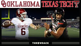 Baker vs. Mahomes: The GREATEST College QB Duel Ever! (Oklahoma vs. Texas Tech, 2016)