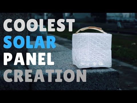 The coolest solar panel invention! | Solar Puff | Light Up Poverty!