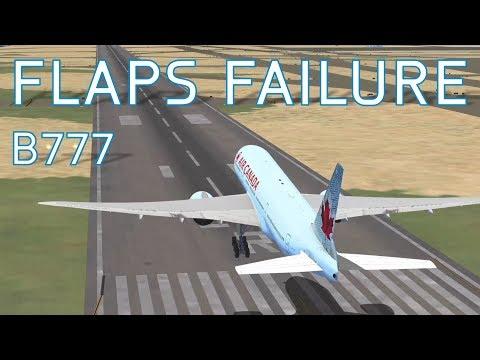 FSX Boeing 777-200 Flaps Failure | Air Canada