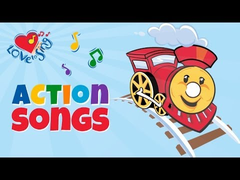 Train Song for Kids with Lyrics | Kids Transport Songs | Love to Sing