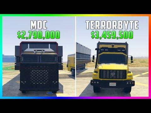 GTA 5 Online - Terrorbyte Vs Mobile Operations Center ($3,459,500 Vs $2,790,000)