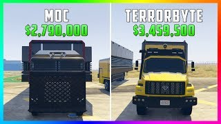 GTA 5 Online - Terrorbyte Vs Mobile Operations Center ($3,459,500 Vs $2,790,000)