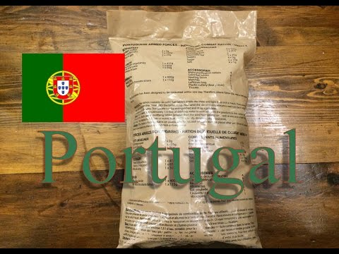 Portugal 24 Hour Ration Menu #4  Ração, individual de Combate