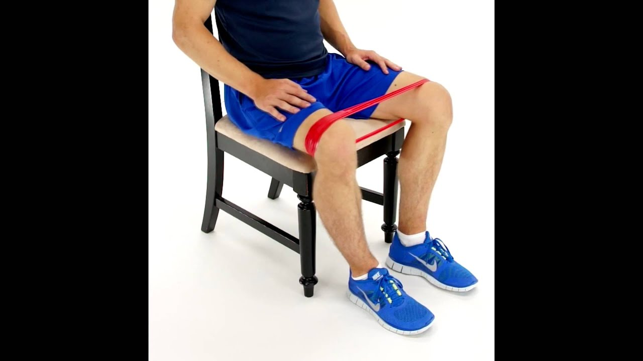 Image result for hip abduction theraband sitting exercise image