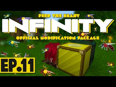 FTB Infinity Lite 1.10 - Generating Lava With Bees! #11 [Modded Survival]