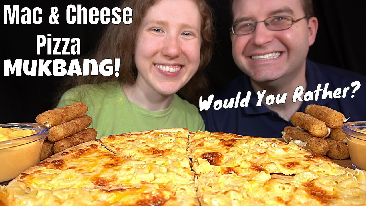 MAC & CHEESE PIZZA MUKBANG (Would You Rather? Collab With Erin & Lena)먹방 | SongByrd's Eating Show