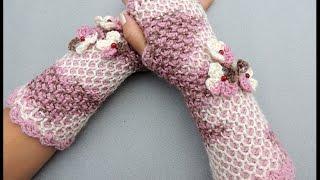 Repeat youtube video Crochet Tunecino : Guante sin dedos o mitones en redondo.  Parte 1 de 2