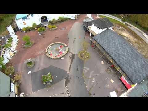 Drone flight Abandoned Camelot theme park.
