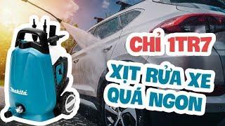 Rửa xe tại nhà chưa bao giờ dễ hơn | Mở hộp máy xịt rửa áp lực cao Makita HW 102