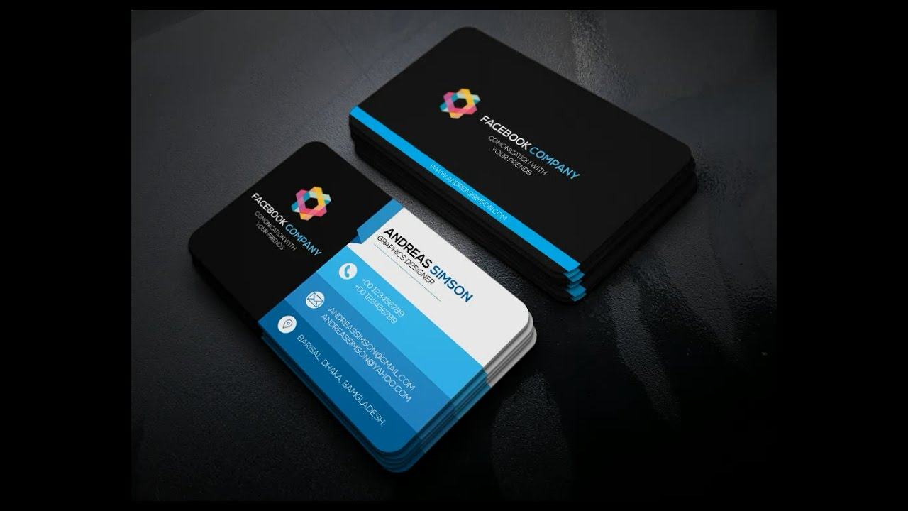 Professional business card design in photoshop youtube professional business card design in photoshop reheart Gallery