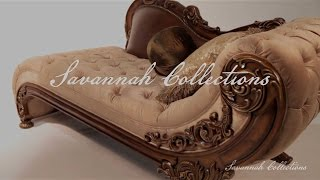 Italian Furniture Chaise By Savannah Collections - Marge Carson