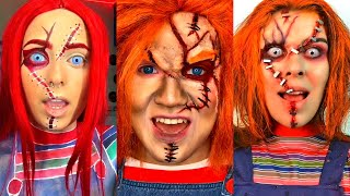 Hi I'm Chucky Wanna Play TikTok (Spooky Season) | Halloween 2020 Scary Makeup Compilation