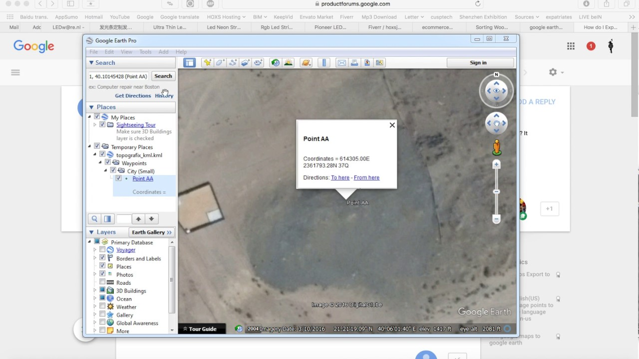 How to Export Google Earth to Google Maps with few clicks