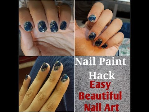 DIY nail art using household items | (EASY) nail art designs 2018 | nail art at home| Do it yourself