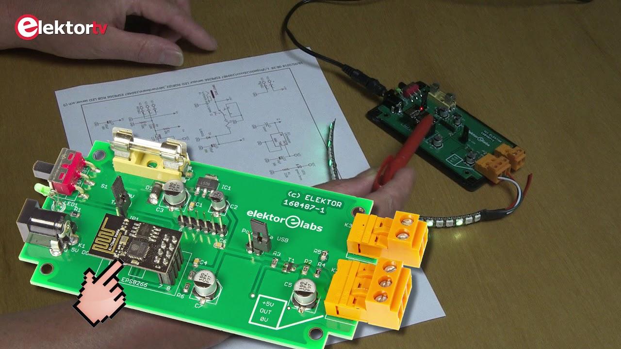 ESP8266 web server for Neopixel LED strips