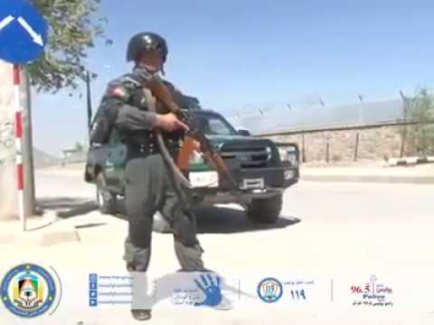 Afghan National Police in Kabul Afghanistan