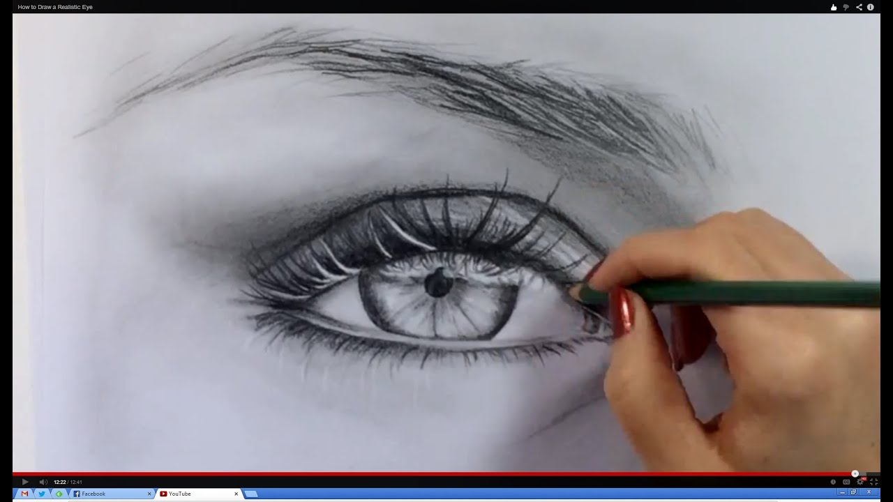 How To Draw Realistic Eyes Step By Step For Beginners