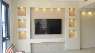 Tv Wall Unit Ideas Gypsum Decorating Ideas 2019 Drywall Wall