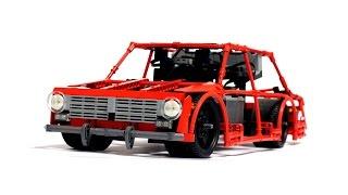 LEGO Technic Super Drift Car VAZ-2101 (FIAT 124) / ЛЕГО Техник Дрифт Копейка ВАЗ-2101
