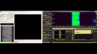 7173 KHz HAM Digital SSTV via DRM Reception with Perseus SDR & Easypal