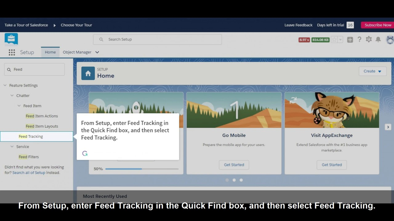 How to Enable Feed Tracking in Salesforce Lightning