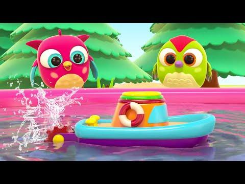 Развивающие мультики для малышей - Совенок Хоп хоп и Кораблик в бассейне