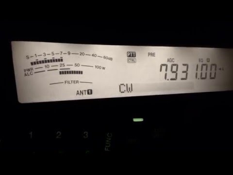 M1 - morse numbers station - 7931kHz cw