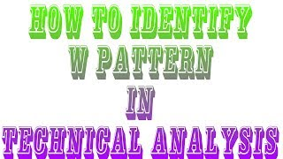 HOW TO IDENTIFY W PATTERN IN CHARTS | INTRADAY STRATEGIES |