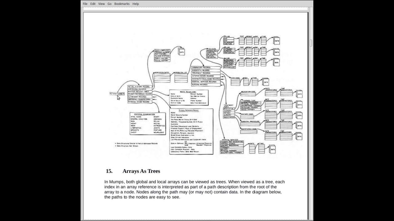 Mumps Programming Language Tutorial Part 3