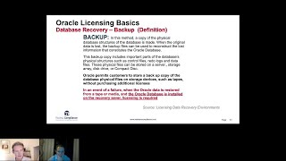 Oracle Licensing: How to license Oracle Backup and Disaster Recovery