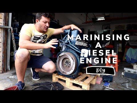 Marinising our Diesel Engine! [Yacht Refit & Restoration Week 66] (Ep.75)