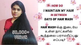 My Hair Care Routine between Hair Wash in தமிழ் | Simple & Efficient Tips to Maintain Hair Properly