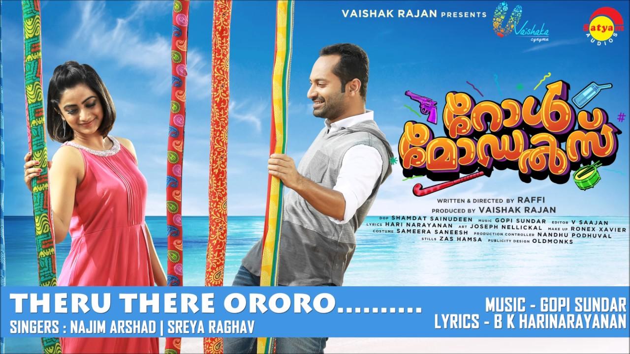 Theru There Ororo Film Role Models Najim Arshad Sreya Raghav New Malayalam Film Song Youtube
