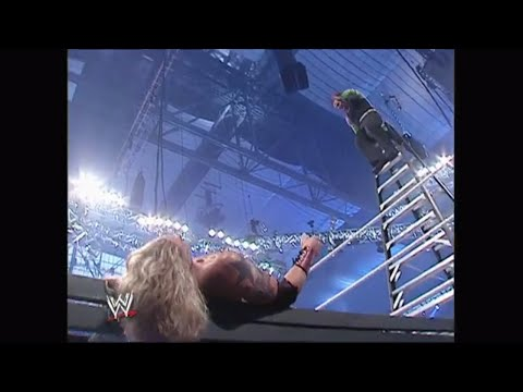 Jeff Hardy takes crazy to new heights with a leg drop off the top of a ladder: WrestleMania 23