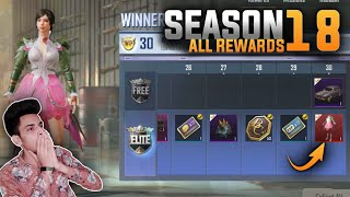 PUBG MOBILE LITE - SEASON 18 WINNER PASS ALL REWARDS LEAKS SEASON 18 WP